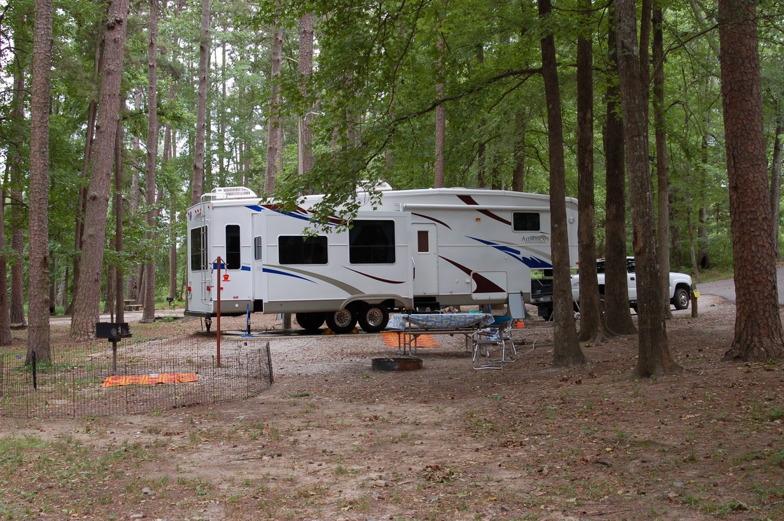 recreational vehicle at the part